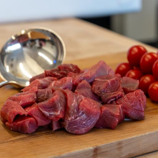 1lb Diced Braising Steak from our home reared cattle