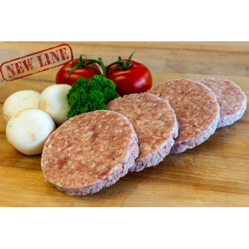 Pork and Apple Burgers from Locally Sourced Pork