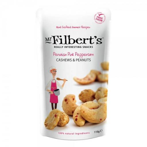 Mr Filbert's Peruvian Pink Peppercorn Cashews & Peanuts 110g