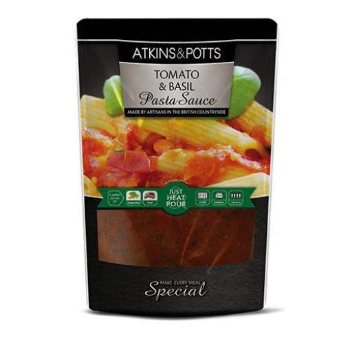 Atkins & Potts Tomato & Basil Pasta Sauce 350g