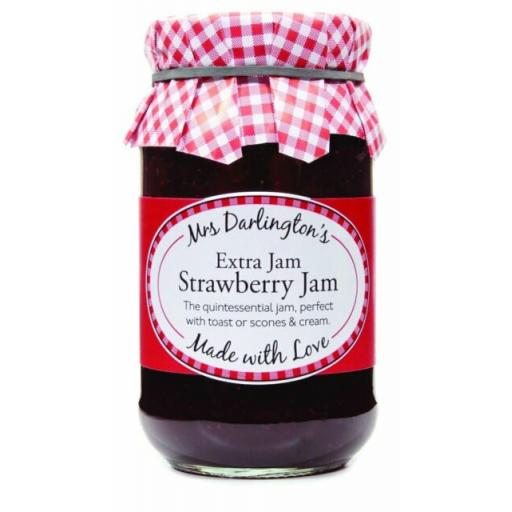 Mrs Darlington's Extra Jam, Strawberry Jam 340g