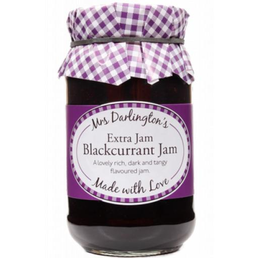 Mrs Darlington's Extra Jam, Blackcurrant Jam 340g