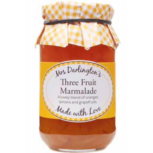 Mrs Darlington's Medium Cut Three Fruit Marmalade 340g