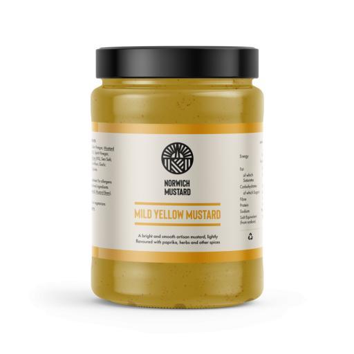 Mild Yellow Mustard from Norwich Mustard 390g