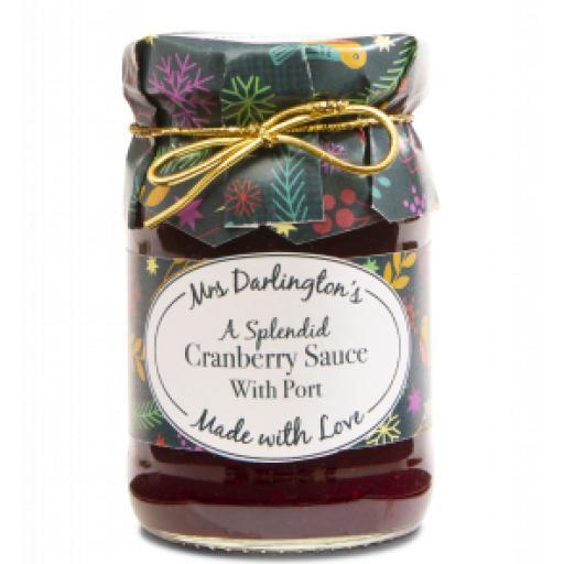 Mrs Darlingtons Cranberry Sauce With Port 200g