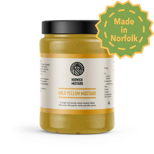 Mild Yellow Mustard from Norwich Mustard 390g