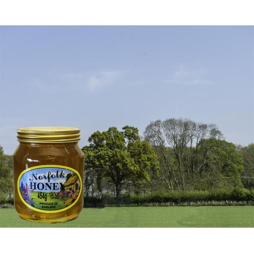 Pure Runny Norfolk Honey 454g