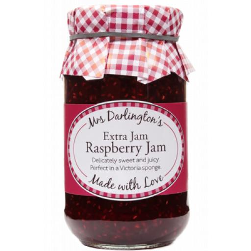 Mrs Darlington's Extra Jam, Raspberry Jam 340g