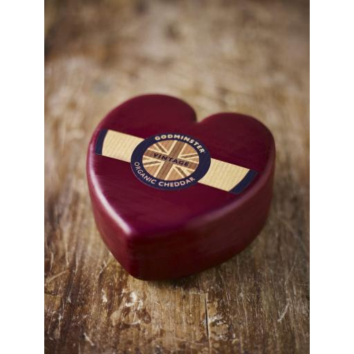 Godminster heart organic cheddar 200gm
