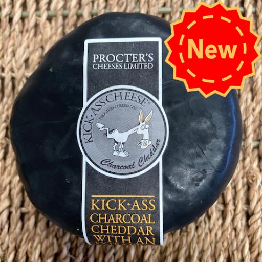 Kick-Ass Extra Mature Cheddar with Activated Charcoal 200g