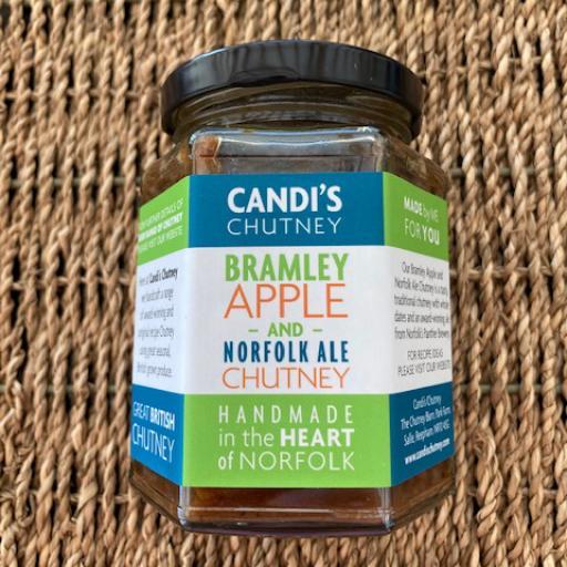 Candi's Chutney - Bramley Apple & Norfolk Ale Chutney 284g