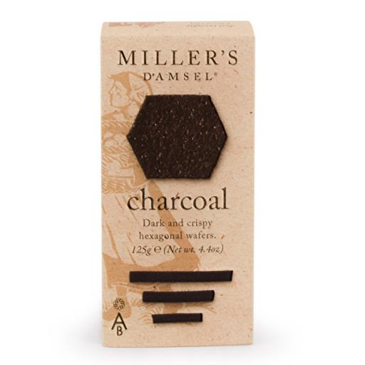 Millers Damsels Charcoal Crackers - 125g