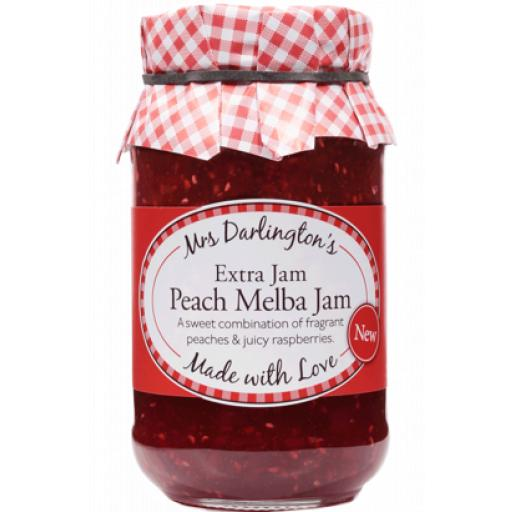 Mrs Darington's Extra Jam Peach Melba Jam 340g
