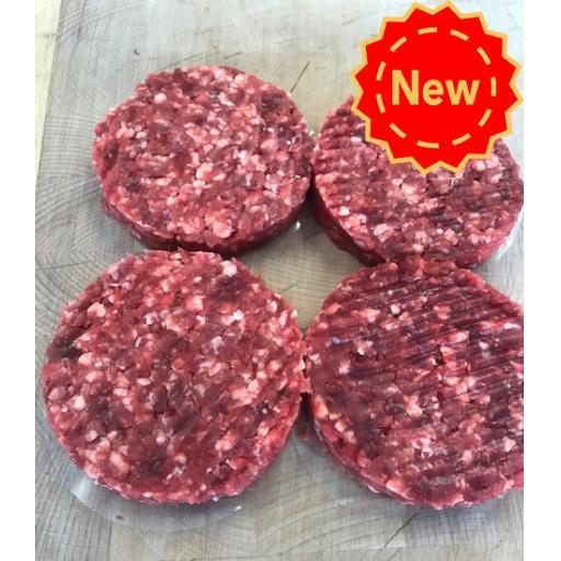 4 x 4oz Intwood Farm Firecracker Burger