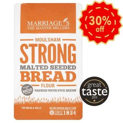 Marriages Moulsham Strong Malted Seeded Bread Flour 1kg