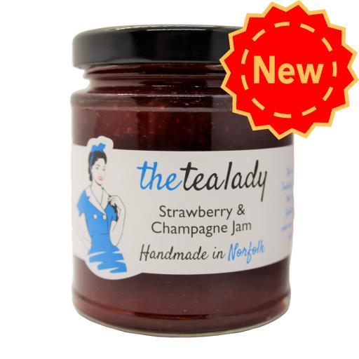 The Tea Lady Strawberry & Champagne Jam 225g